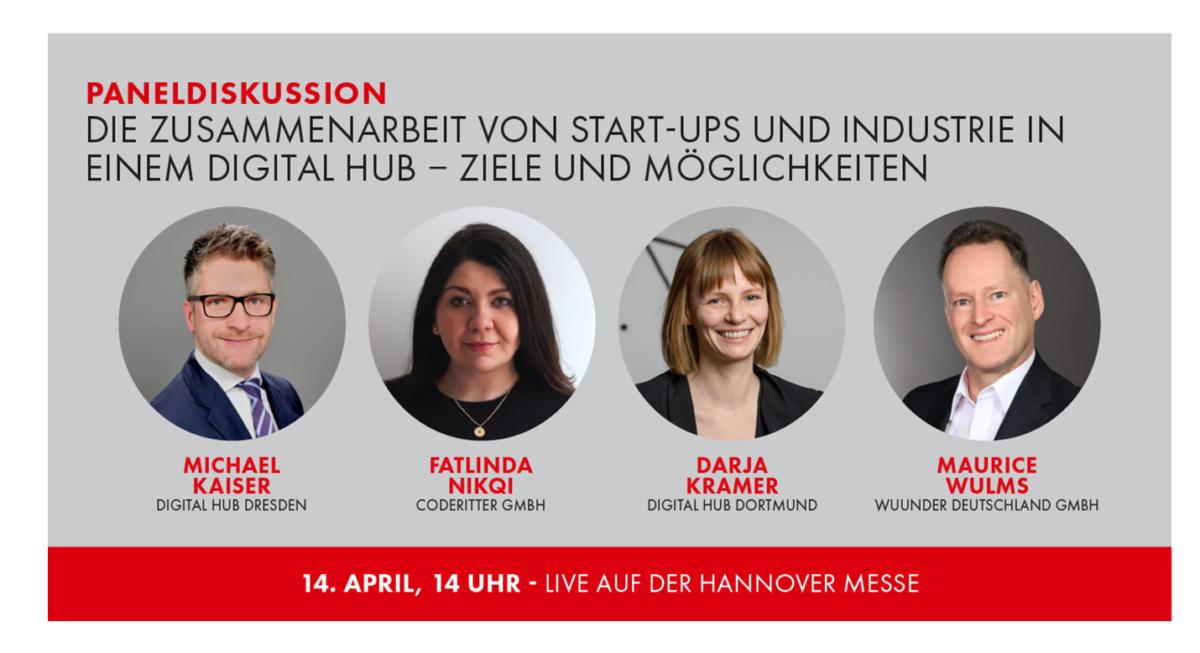 Die Zusammenarbeit von Start-ups und Industrie in einem Digital Hub — Ziele und Möglichkeiten